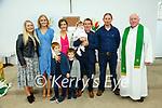 Baby Eabha with her parernts Siobhan & Joe O'Keeffe  who was christened in Knockanure Church by Fr. Kevin McNamara on Saturday last. L-R: Nicola O'Leary, ,Ella Stack, Killian,  Siobhan, Conor & Eabha & Joe O'Keeffe, Gerard O'Keeffe & Fr. Kevin McNamara.