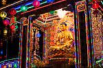 Portfolio Buddhist Temple With Multicolored Lights