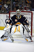 February 17th 2007:  Ryan Miller (30) of the Buffalo Sabres prepares to make a save vs. the Boston Bruins at HSBC Arena in Buffalo, NY.  The Bruins defeated the Sabres 4-3 in a shootout.