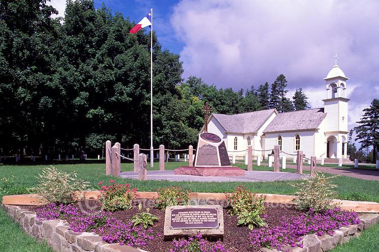 Caraquet, NB, New Brunswick, Canada - Old Church Foundation (built 1837) and Chapel at Sainte-Anne-du-Bocage, a Catholic Sanctuary