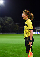 assistant referee Joline Delcroix pictured during a female soccer game between  AA Gent Ladies and Sporting Charleroi Feminin on the fifth matchday of the 2020 - 2021 season of Belgian Scooore Womens Super League , friday 16 th of October 2020  in Oostakker , Belgium . PHOTO SPORTPIX.BE   SPP   DAVID CATRY