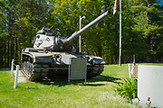 Old rusted M60A3 Main Battle Tank located at the American Legion in Epsom, New Hampshire USA.