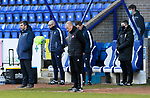 St Johnstone v Hamilton Accies…30.12.20   McDiarmid Park     SPFL<br />Managers Brian Rice and Callum Davidson observe a minutes silence in memory of Jim McLean<br />Picture by Graeme Hart.<br />Copyright Perthshire Picture Agency<br />Tel: 01738 623350  Mobile: 07990 594431