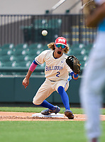 Braddock Bulldogs Kader Rabagh (2) during the 42nd Annual FACA All-Star Baseball Classic on June 5, 2021 at Joker Marchant Stadium in Lakeland, Florida.  (Mike Janes/Four Seam Images)