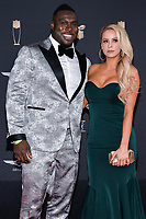 MIAMI, FL - FEBRUARY 1: Jonotthan Harrison and Mackenzie Williams attend the 2020 NFL Honors at the Ziff Ballet Opera House during Super Bowl LIV week on February 1, 2020 in Miami, Florida. (Photo by Anthony Behar/Fox Sports/PictureGroup)