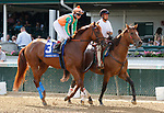 June 26,, 2021: #3 Necker Island in the Stephen Foster Grade 2  at Churchill Downs.  Louisville, KY on June 26, 2021.  Candice Chavez/ESW/CSM