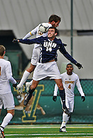 7 November 2012: University of New Hampshire Wildcat Midfielder/Forward Charlie Roche, a Senior from Haverhill, MA, in action against the University of Vermont Catamounts at Virtue Field in Burlington, Vermont. The Wildcats shut out the top seeded Catamounts 1-0 in the America East playoff matchup. Mandatory Credit: Ed Wolfstein Photo