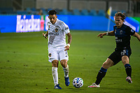 SAN JOSE, CA - SEPTEMBER 13: Cristian Pavon #10 of the Los Angeles Galaxy during a game between Los Angeles Galaxy and San Jose Earthquakes at Earthquakes Stadium on September 13, 2020 in San Jose, California.