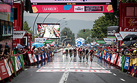 Nikias Arndt (DEU/Sunweb) wins the wet sprint of the breakaway group<br /> <br /> Stage 8: Valls to Igualada (167km)<br /> La Vuelta 2019<br /> <br /> ©kramon