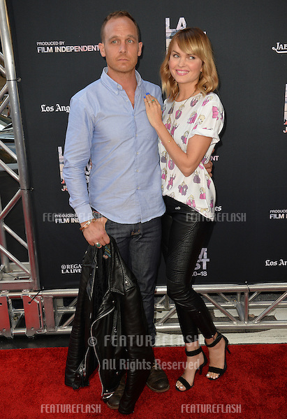 """Sunny Mabrey & husband Ethan Embry at the premiere of """"Grandma"""", the opening movie of the Los Angeles Film Festival, at the Regal Cinema LA Live.<br /> June 11, 2015  Los Angeles, CA<br /> Picture: Paul Smith / Featureflash"""