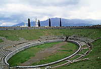 Italy: Pompeii--The Amphitheater, 30 B.C. It sat about 12,000. Photo '83.