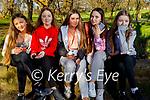 Enjoying a stroll in Listowel town park on Sunday, l to r: Evanna McCaughey, Emma Goggin, Grace Murphy, Ruby Templeton and Kelly Halpin.