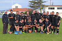 The Bulls team pose for a team photo during the Manawatu president rugby union match between Bunnythorpe and Bulls at Bunnythorpe Domain in Bunnythorpe, New Zealand on Saturday, 1 August 2020. Photo: Dave Lintott / lintottphoto.co.nz