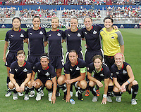 Starting eleven of the Washington Freedom  during a WPS match against Sky Blue FC at Maryland Soccerplex on August 8,2009 in Boyds, Maryland.Freedom won 3-1.