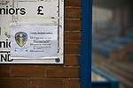 Leeds United Ladies 1 Nottingham Forest Ladies 1, 13/11/2011. Throstle Nest, FA Premier League National Division. A sign displaying admission prices outside the Throstle Nest, Farsley, West Yorkshire, home of Leeds United Ladies FC, on the day they played host to Nottingham Forest Ladies FC in an FA Premier League National Division fixture. The match ended in a one-all draw, watched by fewer than 50 spectators at the club's regular home ground. Formed in 1989, Leeds United Ladies has been one of England's top women's sides for most of the last ten years and played in the top winter league for ladies' teams. Photo by Colin McPherson.