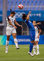 Shannon Boxx, Ayumi Hara. The US defeated Japan, 1-0, during the 2008 Beijing Olympics in Qinhuangdao, China.