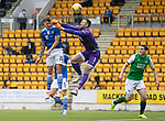 St Johnstone v Hibs……23.08.20   McDiarmid Park  SPFL<br />Callum Hendry beats Ofir Marciano only for it to be diallowed for offside<br />Picture by Graeme Hart.<br />Copyright Perthshire Picture Agency<br />Tel: 01738 623350  Mobile: 07990 594431
