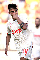Paulo Dybala of Juventus celebrates after scoring the goal of 0-1  <br /> Lecce 26-10-2019 Stadio Via del Mare <br /> Football Serie A 2019/2020 <br /> US Lecce - Juventus FC <br /> Photo Federico Tardito / Insidefoto