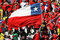 Chile fans in the stands before the game Honduras
