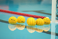 9 April 2006: Water polo balls during Stanford's 15-6 win over ASU at the Avery Aquatic Center in Stanford, CA.