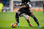 Sidnei Rechel da Silva Junior of RC Deportivo La Coruna fights for the ball with James Rodriguez of Real Madrid during the La Liga match between Real Madrid and RC Deportivo La Coruna at the Santiago Bernabeu Stadium on 10 December 2016 in Madrid, Spain. Photo by Diego Gonzalez Souto / Power Sport Images
