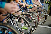 U23 start grid<br /> <br /> GP Mario De Clercq 2014<br /> Hotond Cross<br /> CX BPost Bank Trofee - Ronse