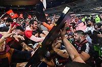 Cyril BAILLE of Stade Toulouse celebrates with the trophy during the Top 14 Final match between Toulouse and La Rochelle at Stade de France on June 25, 2021 in Paris, France. (Photo by Anthony Dibon/Icon Sport) - Cyril BAILLE - Stade de France - Paris (France)