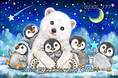 Kayomi, CUTE ANIMALS, LUSTIGE TIERE, ANIMALITOS DIVERTIDOS, paintings+++++,USKH377,#ac#, EVERYDAY ,puzzle,puzzles, icebear, penguins