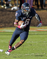 Oct. 22, 2011 - Charlottesville, Virginia - USA; Virginia Cavaliers wide receiver Darius Jennings (6) runs the ball during an NCAA football game against the North Carolina State Wolfpack at the Scott Stadium. NC State defeated Virginia 28-14. (Credit Image: © Andrew Shurtlef