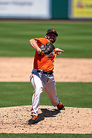 Baltimore Orioles pitcher Matt Wilson (36) during a Minor League Spring Training game against the Detroit Tigers on April 14, 2021 at Joker Marchant Stadium in Lakeland, Florida.  (Mike Janes/Four Seam Images)