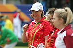 Glasgow 2014 Commonwealth Games<br /> <br /> Anwen Butten and Caroline Taylor (Wales) competing in the lawn bowls women's pairs.<br /> <br /> 30.07.14<br /> ©Steve Pope-SPORTINGWALES