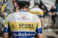 Team Sport Vlaanderen Baloise on their to way to the pre stage sign in. <br /> <br /> Baloise Belgium Tour 2018<br /> Stage 4:  Wanze - Wanze 147.3km