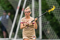 NEWTON, MA - MAY 16: Caitlynn Mossman #7 of Boston College looks to pass during NCAA Division I Women's Lacrosse Tournament second round game between Temple University and Boston College at Newton Campus Lacrosse Field on May 16, 2021 in Newton, Massachusetts.