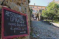 Europe/France/2B/Haute Corse/Pigna: enseigne du restaurant: U Palazzu