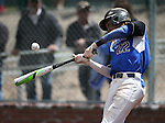 Basic's JJ Smith hits against Galena during NIAA DI baseball action at Bishop Manogue High School, in Reno, Nev., on Friday, May 20, 2016. Basic won 7-3 to advance to the championship. Cathleen Allison/Las Vegas Review-Journal