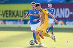 20.02.2021, xtgx, Fussball 3. Liga, FC Hansa Rostock - SV Waldhof Mannheim, v.l. Gerrit Gohlke (Mannheim, 27) klaert vor Philip Tuerpitz (Rostock)<br /> <br /> (DFL/DFB REGULATIONS PROHIBIT ANY USE OF PHOTOGRAPHS as IMAGE SEQUENCES and/or QUASI-VIDEO)<br /> <br /> Foto © PIX-Sportfotos *** Foto ist honorarpflichtig! *** Auf Anfrage in hoeherer Qualitaet/Aufloesung. Belegexemplar erbeten. Veroeffentlichung ausschliesslich fuer journalistisch-publizistische Zwecke. For editorial use only.