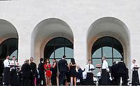 Ospiti dell'One Night Only di Giorgio Armani al Palazzo della Civilta' Italiana, a Roma, 5 giugno 2013.<br /> Guests of the Giorgio Armani's One Night Only fashion event held at the Palazzo della Civiltà Italiana in Rome, 5 June 2013.<br /> UPDATE IMAGES PRESS/Riccardo De Luca