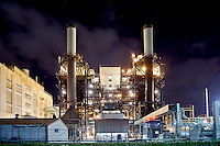Pearl City Power Plant at night, O'ahu