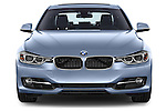 Car photography straight front view of a 2014 BMW SERIES 3 Sport 4 Door Sedan 2WD Front View