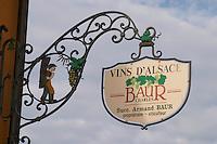 wrought iron sign charles baur eguisheim alsace france
