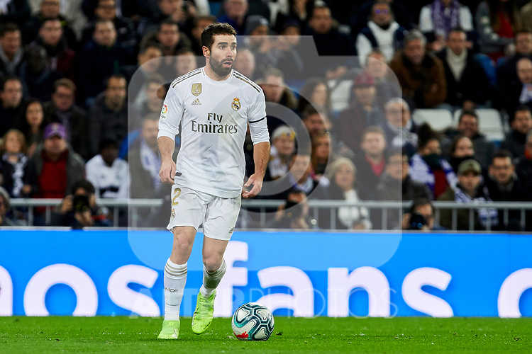 Dani Carvajal of Real Madrid during La Liga match between Real Madrid and Real Sociedad at Santiago Bernabeu Stadium in Madrid, Spain. November 23, 2019. (ALTERPHOTOS/A. Perez Meca)