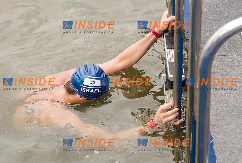 SAFRA Yuval ISR<br /> Open Water - Men's  25km <br /> Day 09 01/08/2015<br /> XVI FINA World Championships Aquatics Swimming<br /> Kazan Tatarstan RUS July 24 - Aug. 9 2015 <br /> Photo Giorgio Perottino/Deepbluemedia/Insidefoto