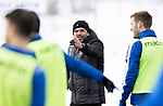 St Johnstone Training…<br />Manager Callum Davidson pictured during training ahead of Sundays game against Celtic.<br />Picture by Graeme Hart.<br />Copyright Perthshire Picture Agency<br />Tel: 01738 623350  Mobile: 07990 594431