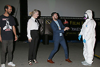 LOS ANGELES - SEP 25:  Wes Craven Award Winners Jonathan Louis Lewis, Mary O'Neil, Buz Wallick, and Hazmat Presenter at the Catalina Film Festival Drive Thru Red Carpet, Friday at the Scottish Rite Event Center on September 25, 2020 in Long Beach, CA
