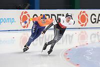 SPEEDSKATING: 22-11-2019 Tomaszów Mazowiecki (POL), ISU World Cup Arena Lodowa, 5000m Men Division B, Jan Blokhuijsen (NED), Mateusz Owczarek (POL), ©photo Martin de Jong