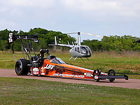Apr 25, 2014; Baytown, TX, USA; NHRA top fuel dragster driver J.R. Todd during qualifying for the Spring Nationals at Royal Purple Raceway. Mandatory Credit: Mark J. Rebilas-