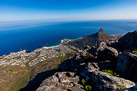 South Africa, Cape Town,landscape from Table Mountain