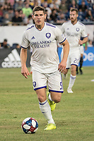 FOXBOROUGH, MA - JULY 27:  Dillon Powers #5 advances on goal at Gillette Stadium on July 27, 2019 in Foxborough, Massachusetts.