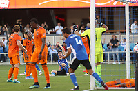 SAN JOSE, CAL - JULY 24: Tanner Beason #15 of the San Jose Earthquakes celebrates a goal during a game between Houston Dynamo and San Jose Earthquakes at PayPal Park on July 24, 2021 in San Jose, Cal.
