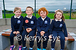 Junior infants in St Brendan's NS in Blennerville on Wednesday, l to r: Cara McCarthy, Rian Lawlor, Oisin Bourke and Lucy Raggett.